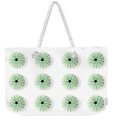 Weekender Tote Bag featuring the photograph Sea Urchins by Jocelyn Friis