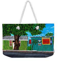 Sea-view Cafe Weekender Tote Bag by Laura Forde