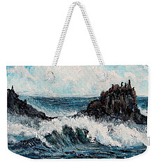 Weekender Tote Bag featuring the painting Sea Whisper by Shana Rowe Jackson