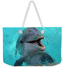 Weekender Tote Bag featuring the photograph Sea World Dolphin by David Nicholls