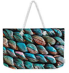 Seagrass Blue Weekender Tote Bag by Linda Bianic