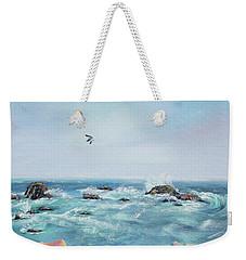 Seagull Over The Ocean Weekender Tote Bag