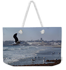 Weekender Tote Bag featuring the photograph Seagull by Robert Nickologianis