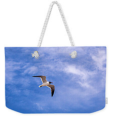 Weekender Tote Bag featuring the photograph Seagull by Sennie Pierson