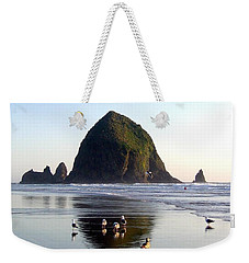 Seagulls And A Surfer Weekender Tote Bag