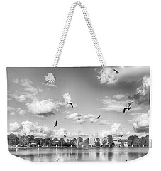 Weekender Tote Bag featuring the photograph Seagulls by Howard Salmon