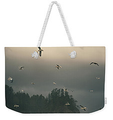 Seagulls In A Storm Weekender Tote Bag