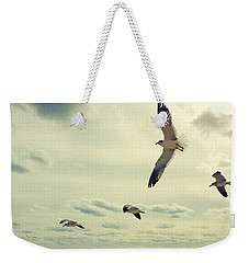 Seagulls In Flight Weekender Tote Bag