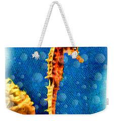 Weekender Tote Bag featuring the digital art Seahorse by Daniel Janda