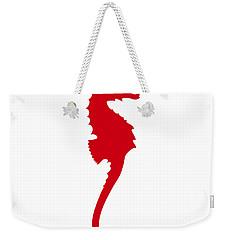 Seahorse In Red Weekender Tote Bag