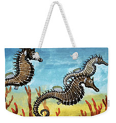 Seahorses Weekender Tote Bag by English School