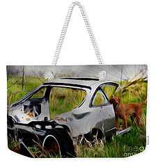 Weekender Tote Bag featuring the photograph Search And Rescue by Liane Wright