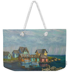 Seascape Boat Paintings Weekender Tote Bag