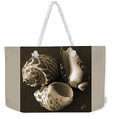 Weekender Tote Bag featuring the photograph Seashells Spectacular No 1 by Ben and Raisa Gertsberg