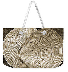 Weekender Tote Bag featuring the photograph Seashells Spectacular No 11 by Ben and Raisa Gertsberg