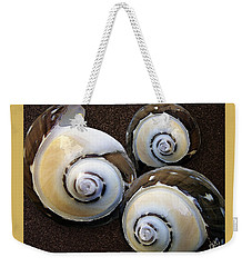 Weekender Tote Bag featuring the photograph Seashells Spectacular No 23 by Ben and Raisa Gertsberg