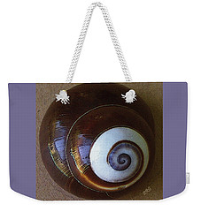 Weekender Tote Bag featuring the photograph Seashells Spectacular No 26 by Ben and Raisa Gertsberg