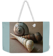 Weekender Tote Bag featuring the photograph Seashells Spectacular No 29  by Ben and Raisa Gertsberg