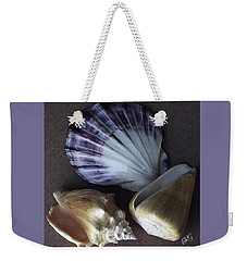 Weekender Tote Bag featuring the photograph Seashells Spectacular No 30 by Ben and Raisa Gertsberg