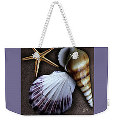 Weekender Tote Bag featuring the photograph Seashells Spectacular No 37 by Ben and Raisa Gertsberg