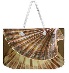 Weekender Tote Bag featuring the photograph Seashells Spectacular No 54 by Ben and Raisa Gertsberg