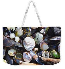 Seashells Weekender Tote Bag by Tine Nordbred