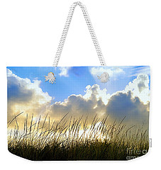 Seaside Grass And Clouds Weekender Tote Bag