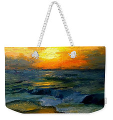 Seaside Sunset Weekender Tote Bag by Gail Kirtz