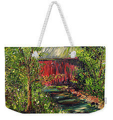 Weekender Tote Bag featuring the painting Season Of Singing by Meaghan Troup