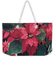 Weekender Tote Bag featuring the painting Seasonal Scarlet 2 by Barbara Jewell