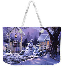 Weekender Tote Bag featuring the painting Season's Greeters by Michael Humphries