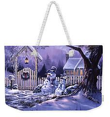 Season's Greeters Weekender Tote Bag by Michael Humphries