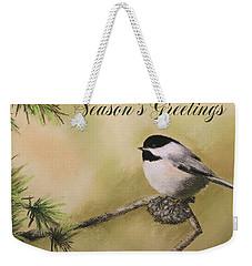 Season's Greetings Chickadee Weekender Tote Bag