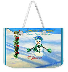 Seasons Greetings From Our Mailbox To Yours Weekender Tote Bag by Kimberlee Baxter