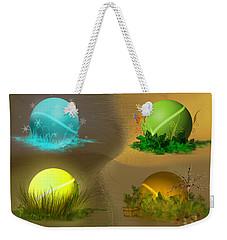 Weekender Tote Bag featuring the digital art Seasons by Vincent Autenrieb