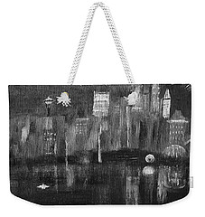 Seattle Black And White Weekender Tote Bag by Dick Bourgault