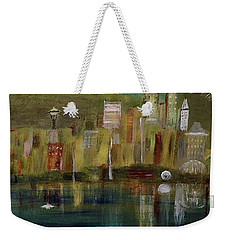 Seattle Cityscape Weekender Tote Bag by Dick Bourgault