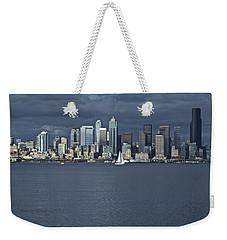 Seattle Cityscape From Alki Beach Weekender Tote Bag