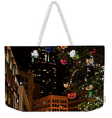 Seattle Downtown Christmas Time Art Prints Weekender Tote Bag