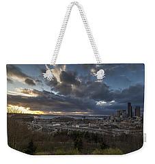 Seattle Dramatic Dusk Weekender Tote Bag by Mike Reid