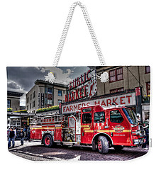 Seattle Fire Engine Weekender Tote Bag by Spencer McDonald