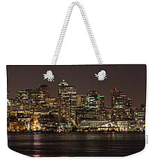 Seattle Lake Union Winter Reflection Weekender Tote Bag by Mike Reid
