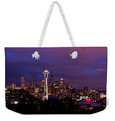 Seattle Night Weekender Tote Bag by Chad Dutson