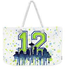 Seattle Seahawks 12th Man Art Weekender Tote Bag