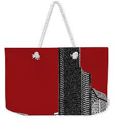 Seattle Skyline Columbia Tower - Dark Red Weekender Tote Bag