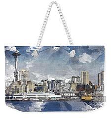Seattle Skyline Freeform Weekender Tote Bag