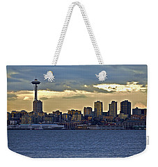 Seattle Skyline In Twilight Weekender Tote Bag