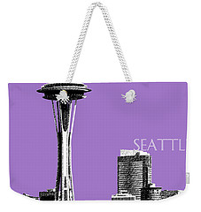 Seattle Skyline Space Needle - Violet Weekender Tote Bag
