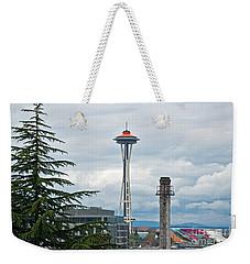 Seattle Spaceneedle Golden Anniversary Art Prints Weekender Tote Bag by Valerie Garner