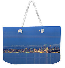 Seattle Surrounded By Blue Weekender Tote Bag by E Faithe Lester